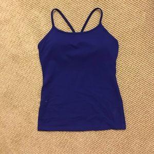 Lululemon Cobalt Blue Tank Top
